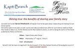 Family History Month - Kapiti Wed 17th August 2016