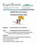 AGM & Branch meeting, 22 May 2018