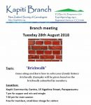 August Branch Meeting