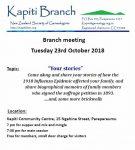 October Branch Meeting