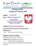 February 2021 meetings